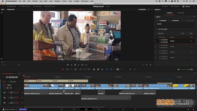31集 DaVinci Resolve 16 达芬奇视频教程终极剪辑调色高级课程
