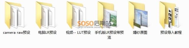 8款原创日系清新淡雅LR婚纱预设婚礼照片/视频调色 包含LUT格式