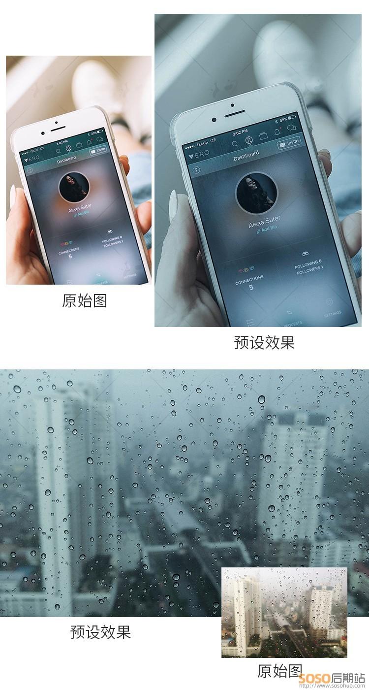 14款手机LR预设 中性灰低调安静情绪家居静物美食蓝灰色lightroom调色