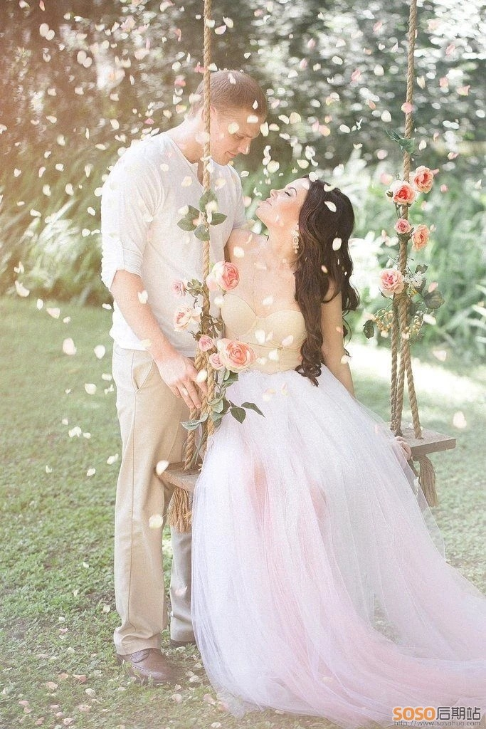 40款清新森系婚纱婚礼LR预设低饱和人像调色Lightroom+PS通用