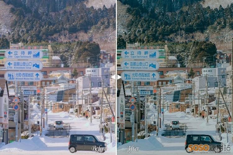 4款精选日系文艺情绪胶片人像调色预设 LR+LUT+DNG 视频图片可用 手机LR预设
