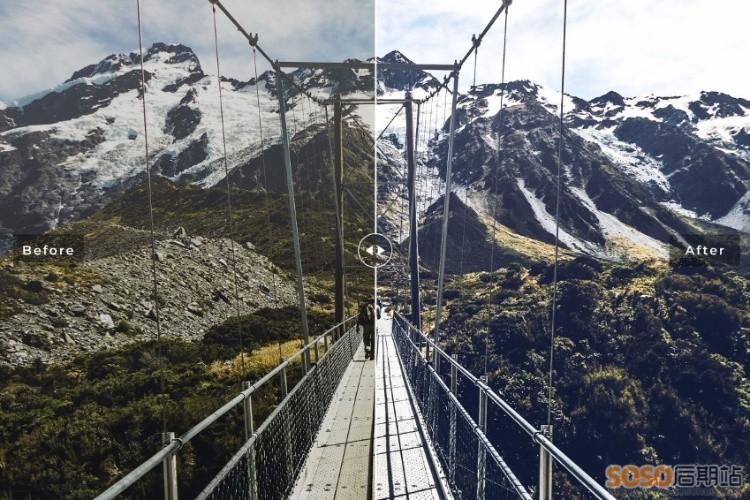 11款摄影大神户外登山LR预设 风光景色人像Lightroom调色 手机版/电脑版