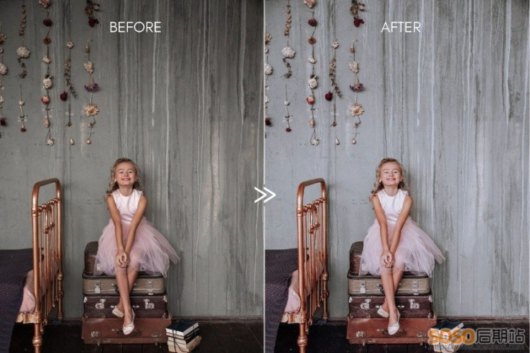 LR预设INS莫兰迪色系 干净极简灰白色室内静物人像胶片lightroom手机版滤镜