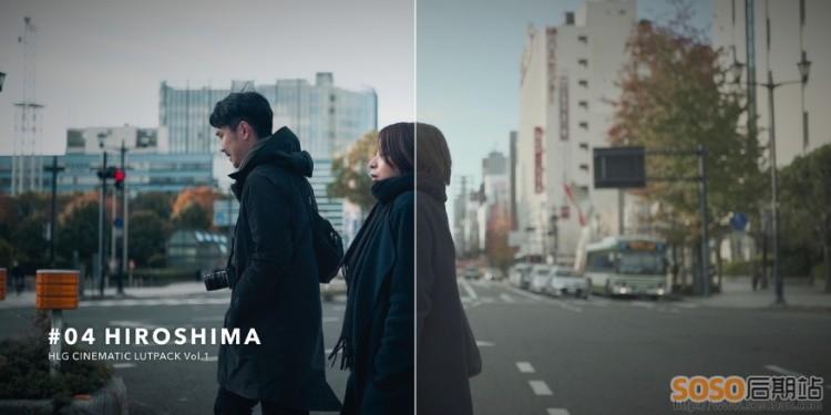 日本AUXOUT视频LUT预设32款合集 HLG CINEMATIC LUT PACK索尼调色