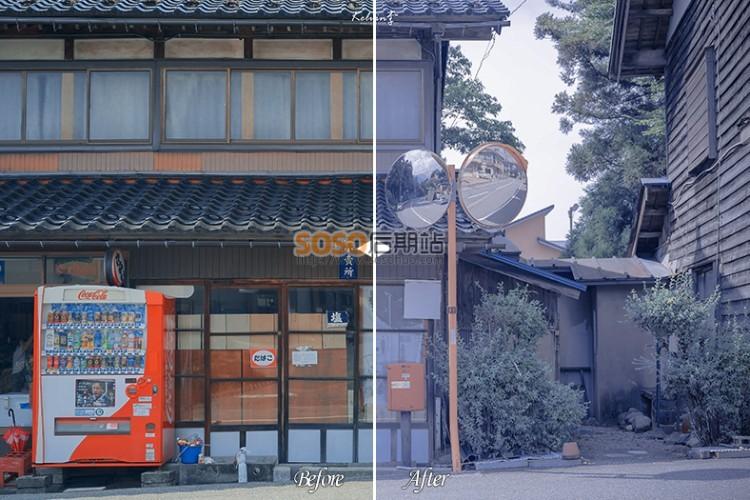 日系清新淡蓝色LR预设 美食 静物 人像Lightroom调色滤镜