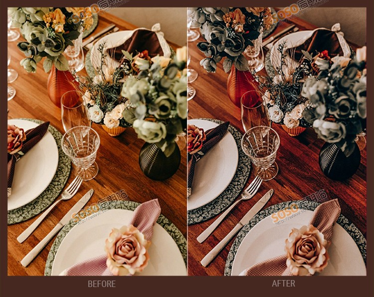 LR预设欧式暖调复古婚纱婚礼跟拍Lightroom调色PS滤镜LUT预设PR/AE/FCPX/达芬奇
