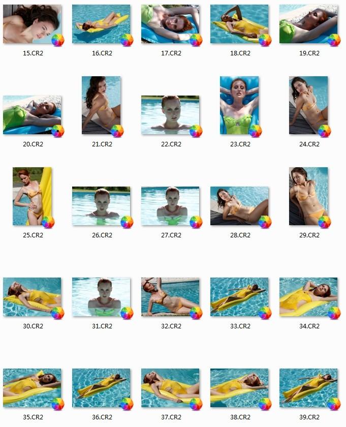 63P 时尚比基尼泳装模特RAW原片 摄影修图练习素材 佳能CR2