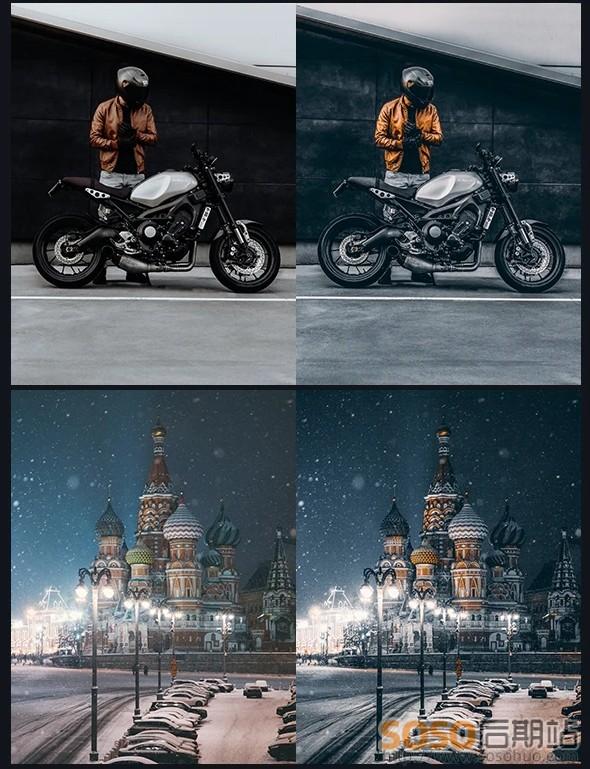 最新城市黑金预设(煤金色高级版)街拍夜景胶片INS调色Lightroom滤镜