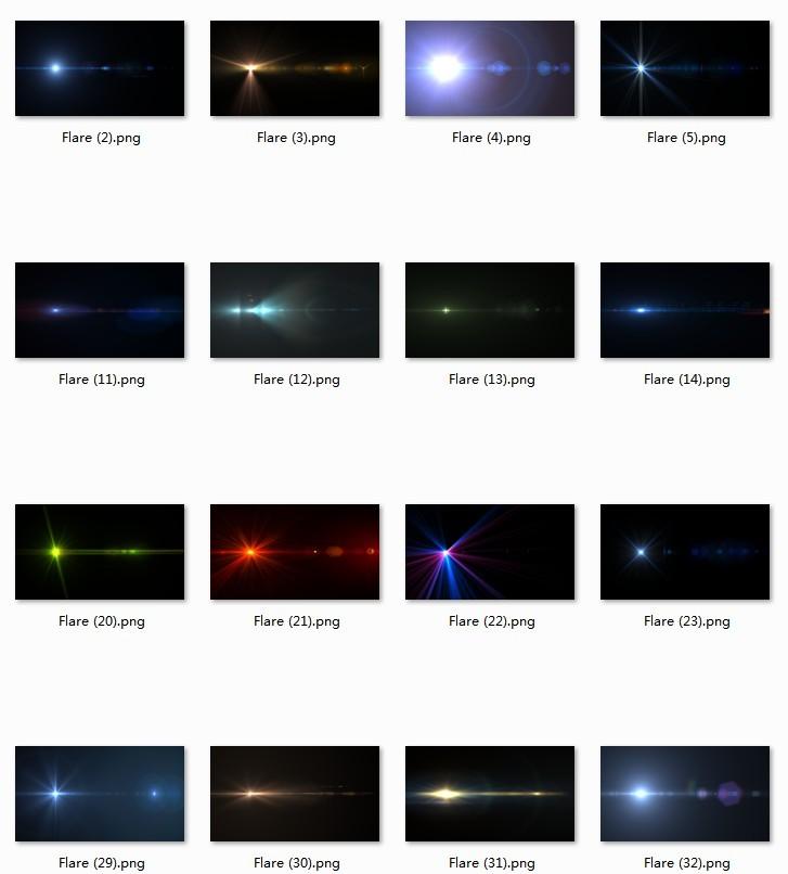 240P炫彩光效图片素材 炫酷科幻镜头光晕PS合成叠加光斑 高清大图