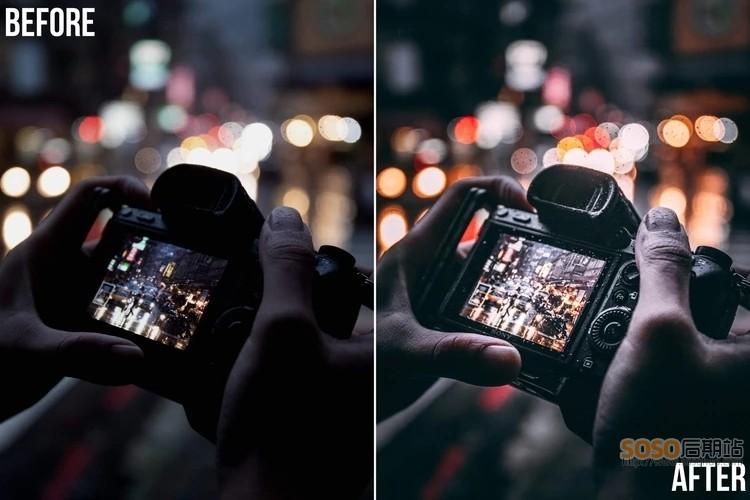 城市街拍夜景LR预设 都市工业风电影胶片 K3LVINCH Presets Lightroom