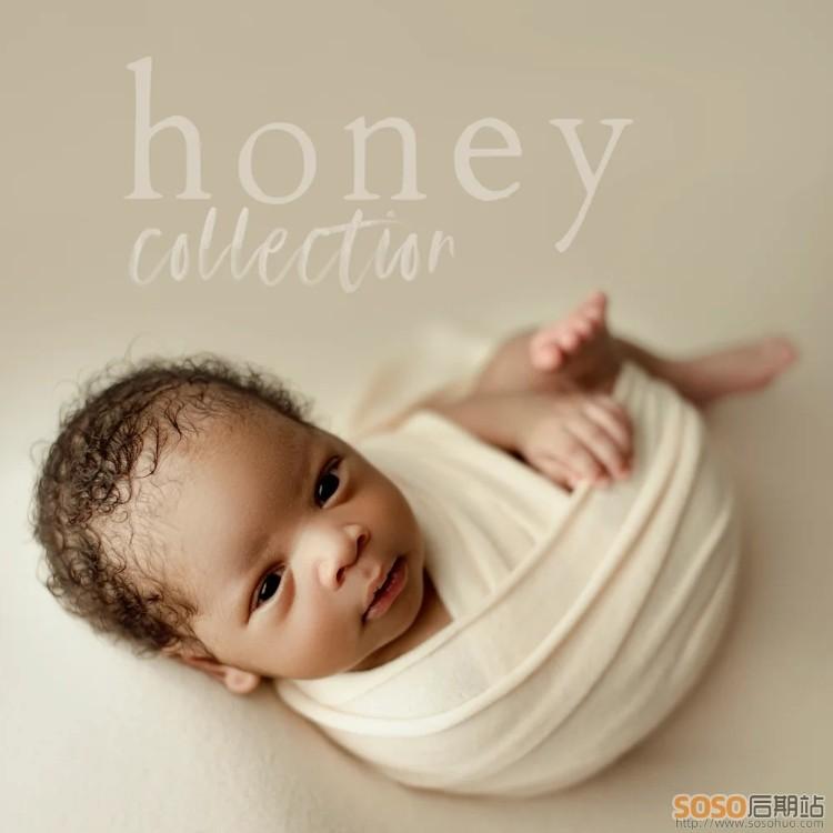 新生儿写真满月照LR预设Honey Collection Newborn Presets Lightroom调色预设