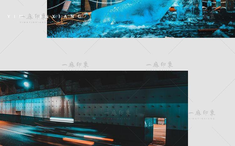 LR预设蓝橙人像夜景海边港风手机调色PS/PR/FCPX达芬奇AE/LUT滤镜