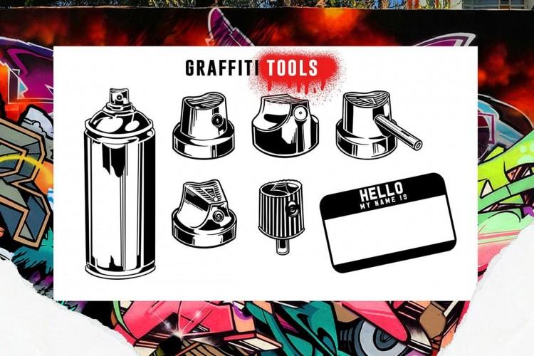 Procreate笔刷时尚涂鸦街头喷涂艺术绘画溅效果IPad插画