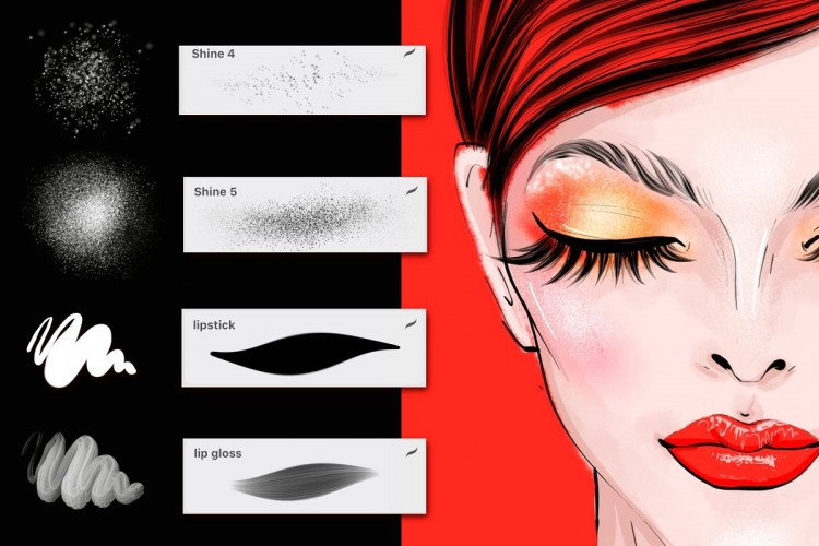 Procreate笔刷插画卡通动画漫画人物化妆笔刷iPad绘画素材