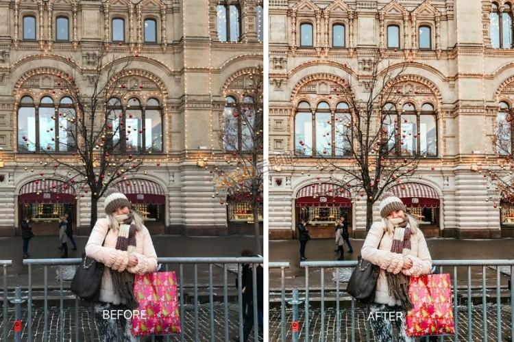 INS网红冬季明亮通透人像LR预设 街拍旅拍手机Lightroom预设调色滤镜
