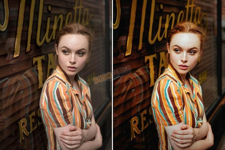 INS摄影师复古通透人像调色LR预设 Lightroom调色手机APP滤镜