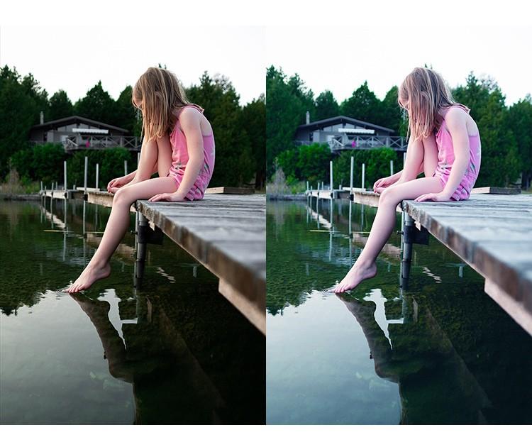 懒人实用 PS一键小清新调色通透美白动作预设 Photoshop修图滤镜