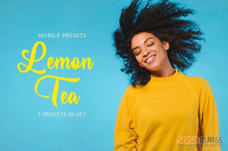 LR预设清晰通透去灰人像调色Lightroom预设柠檬色Lemon Tea Mobile Presets